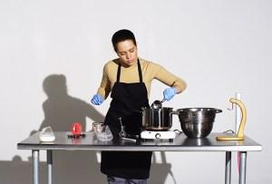 Miriam Simun making Human Cheese