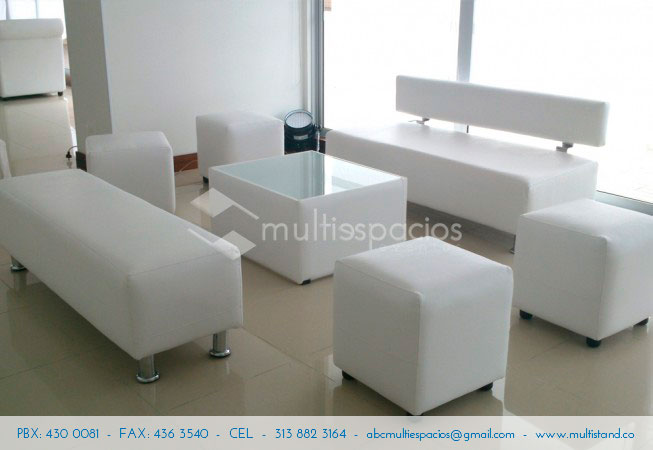 Sala Lounge con Puff, Alquiler de sals en Bogotá