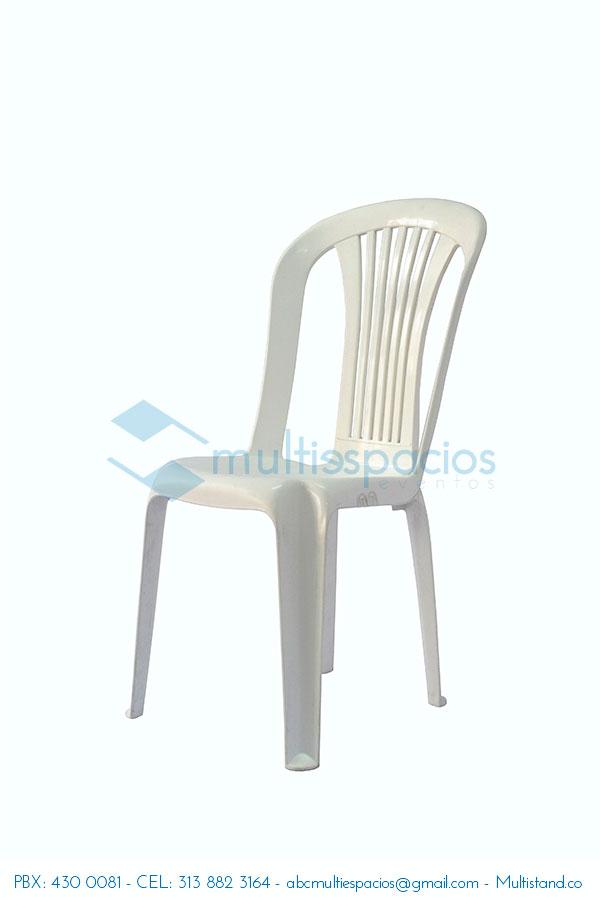 Alquiler de sillas plásticas en Bogotá