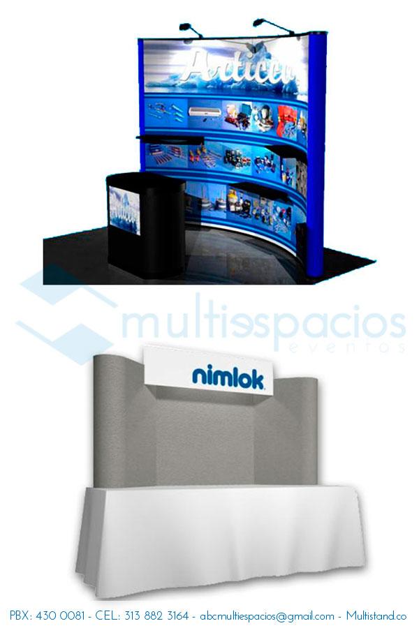 Alquiler de Backings en Bogotá. Multiespacios Ltda