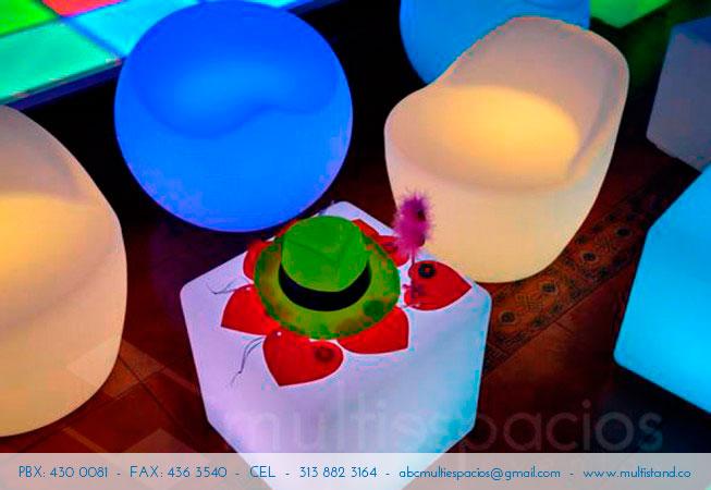Alquiler de salas, Sala Led, Salas Lounge, Salas vip, en Bogotá