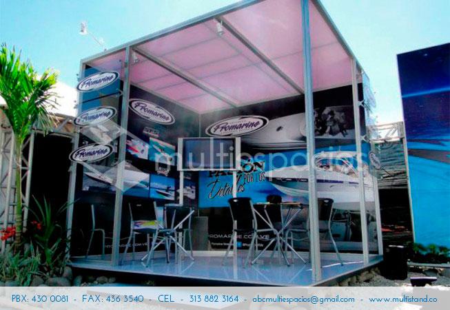 Stand para exteriores, al aire libre, alquilamos stands en Bogotá, diseño y producción