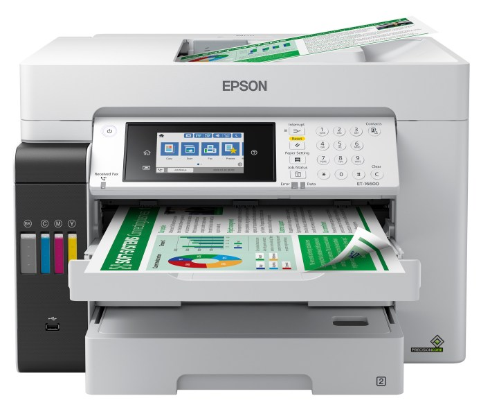 """The EcoTank Pro ET-16600 wireless all-in-one printer offers cartridge-free printing with easy-to-fill supersized ink tanks, designed for reliable, cost-effective and feature-rich printing up to 13"""" x 19"""""""