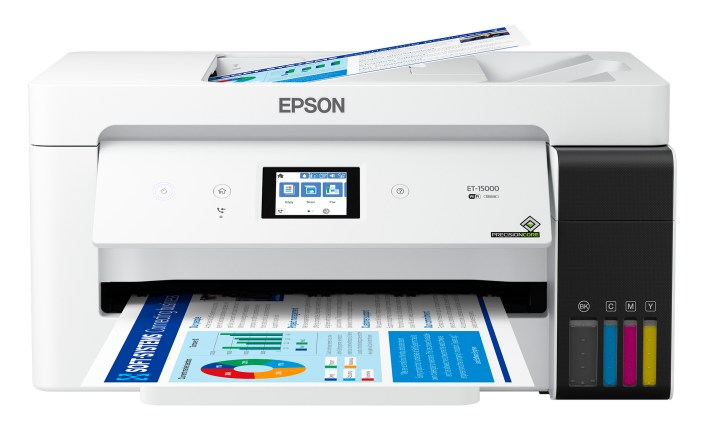 """The EcoTank ET-15000 wireless all-in-one printer joins the current EcoTank portfolio to offer SOHO cartridge-free printing up to 13"""" x 19"""""""