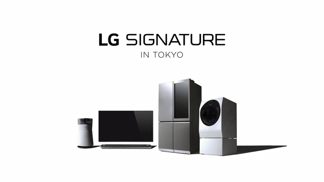 LG SIGNATURE launch event in Japan