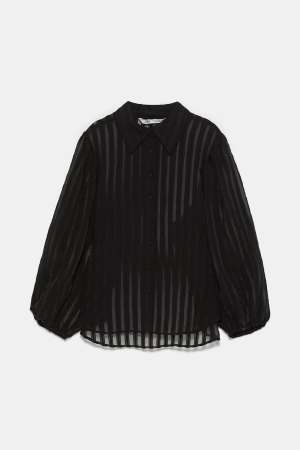 Organza Stripe Blouse