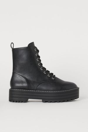 Biker Boot with Platform Sole