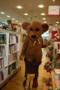 H hugging Fudgy Bear
