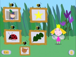 Ben and Holly app Menu