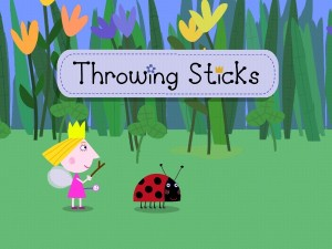 Throwing Sticks - Ben and Holly app