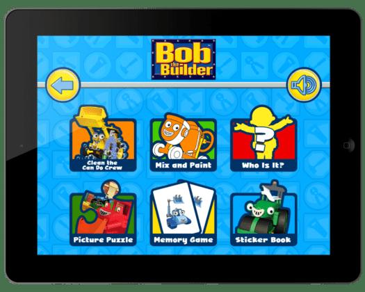 Bob the Builder Play Time Fun Menu