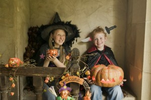Children in Halloween costume ©National Trust Images Andreas von Einsiedel