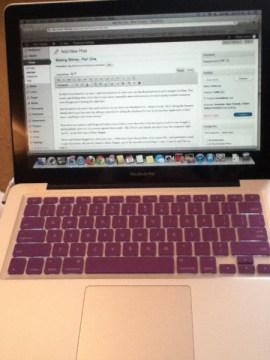 purple keyboard protector