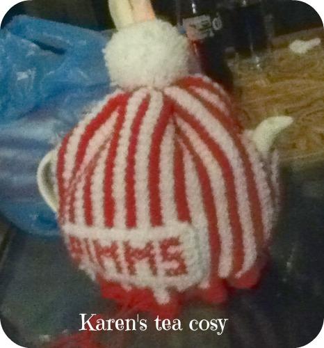 Karen's Pimm's Tea Cosy