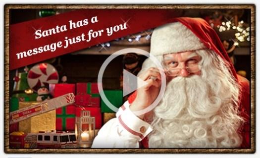 Portable North Pole Santa Has a Message For You