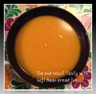 Spicy Butternut Squash soup with a dollop of Aussiemite