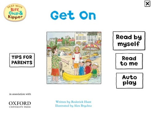 Read with Biff Chip and Kipper app Get On