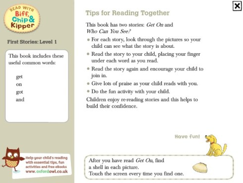 Read with Biff Chip and Kipper tips