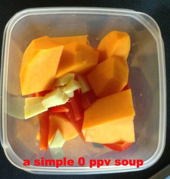 Butternut Squash, Ginger and Red Pepper Soup