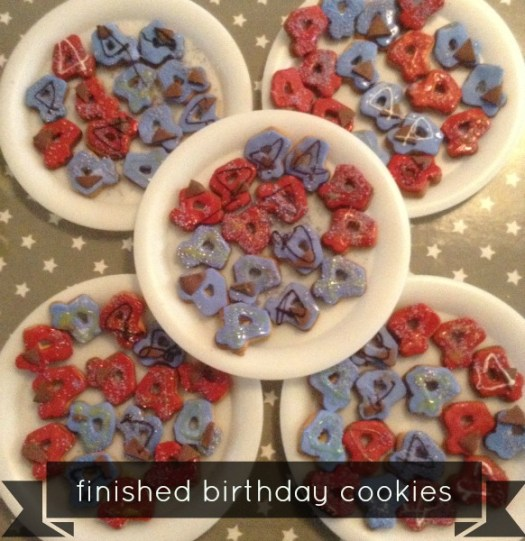 Birthday Cookies - Finished