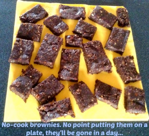 no cook brownies