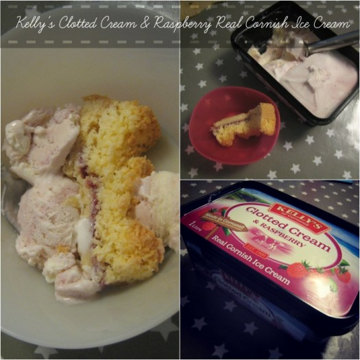 Kelly's Clotted Cream and Raspberry Real Cornish Ice Cream