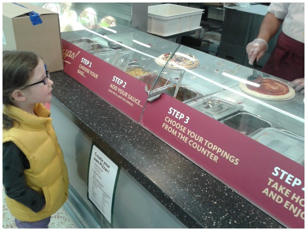 Morrisons pizza counter