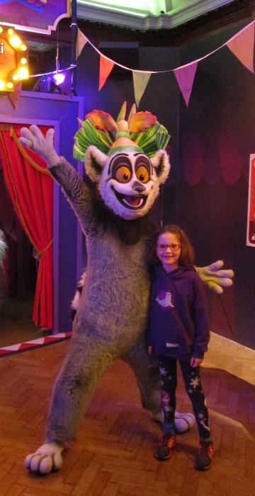 King Julien at Shrek's Adventure