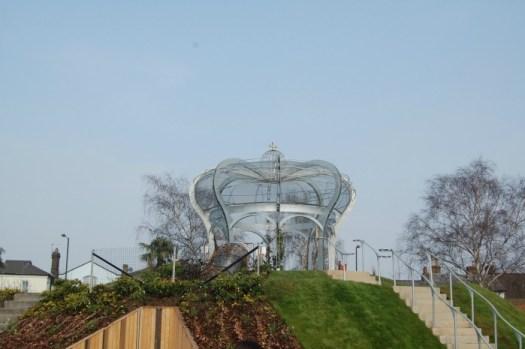 Hampton Court Magic Garden crown hill view