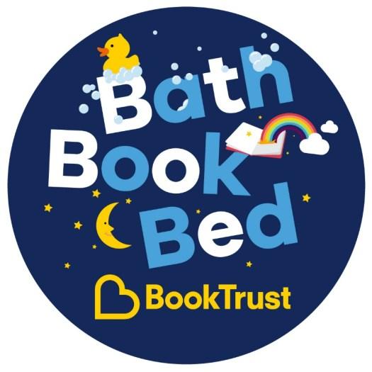 Bath Book Bed BookTrust campaign logo