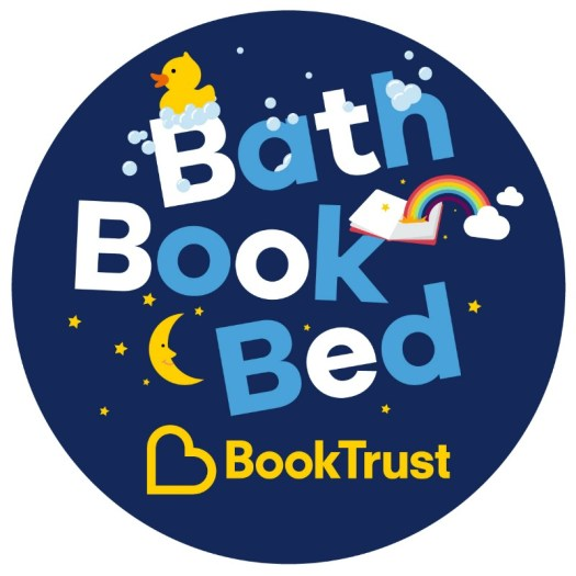 Bath Book Bed BookTrust campaign logo
