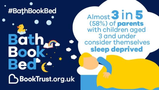 Bath Book Bed sleep deprived BookTrust