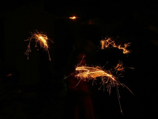 Sparklers on Bonfire Night