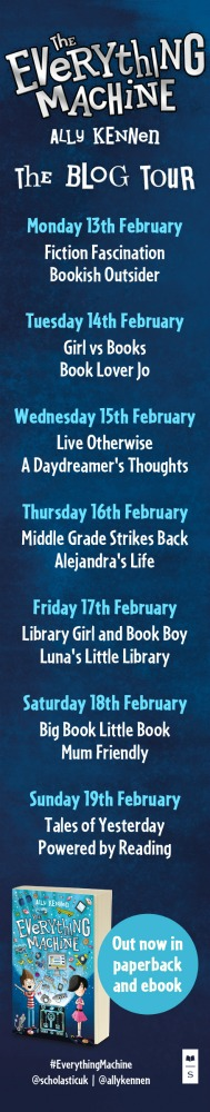 The Everything Machine blog tour banner