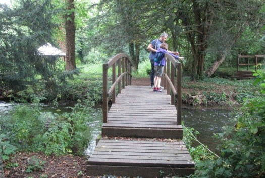 Lullingstone Castle World Garden pooh sticks