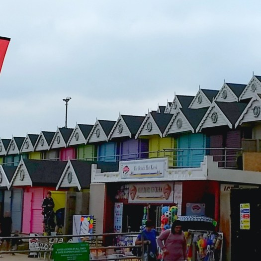 Beach huts at walton on the naze