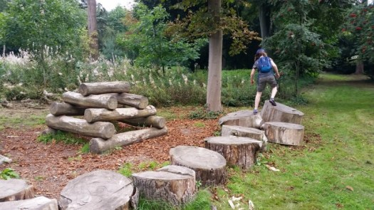 Osterley Park and House wooden climbing natural play