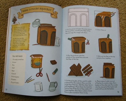 A Roman Adventure book model aqueduct
