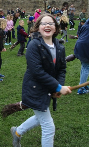 enjoying broomstick training