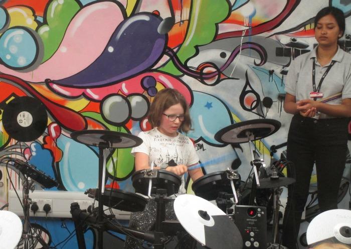 Kidzania drum workshop