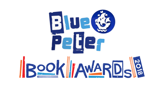 Blue Peter Book Awards 2018 logo, unveiled with the Blue Peter Book Awards Shortlist
