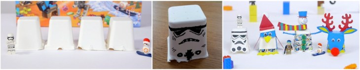 Lego Star Wars Sustainable Advent Calendar 2017 Stormtrooper craft from the tray, easy crafting using Lego Star Wars recyclable trays