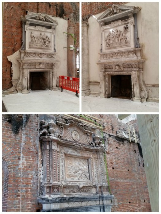 Clandon Park fireplaces that survived after the fire
