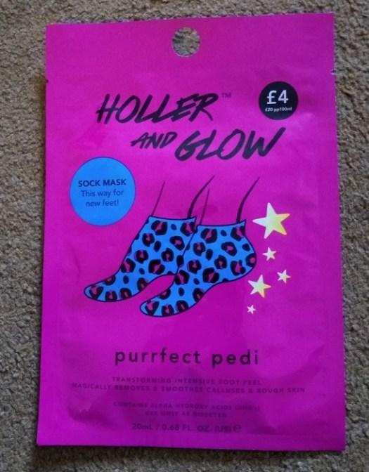 Primark foot peel Holler and Glow purrfect pedi