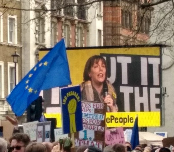 Jess Phillips Put it to the People March
