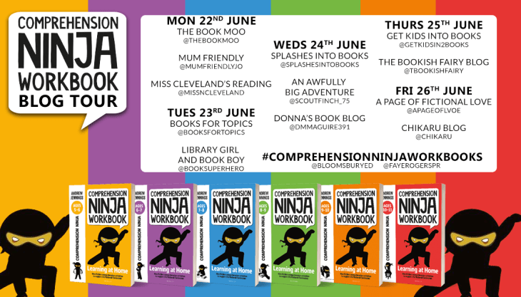 Comprehension Ninja Workbook by Andrew Jennings blog tour