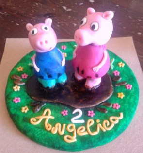 peppa & george pig cake topper