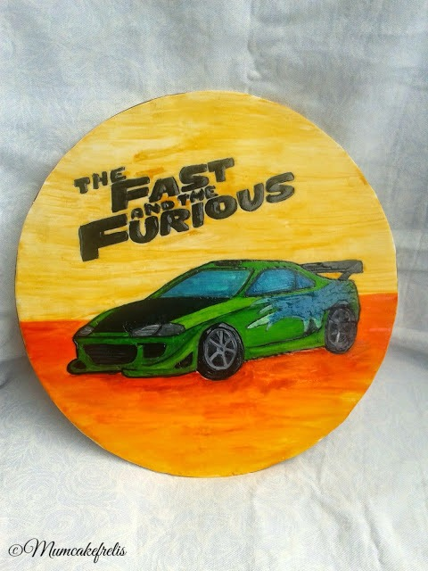 Personalised Fast & Furious Cake Topper Birthday Theme, Birthday Parties, Fast to furious cake topper