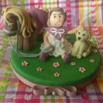 Bimba e animali cake topper