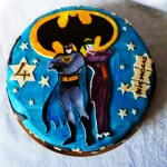 Batman & joker cake